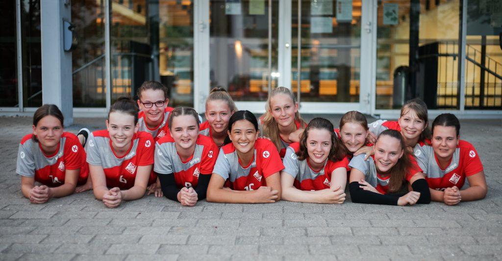 Der Kader der U18-2, leider fehlen Emilia Pohl und Sina Klug